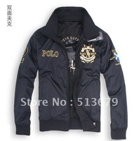 Free shipping 2012 new stylish men's coat leisure active jacket men on both sides wear windproof jacket men's jacket