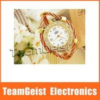 20pcs/lot Fashion Beautiful Bracelet Style Lady's Crystal Wrist Watch, Jewelry Watch Diamond Band Quartz Watch &Free Shipping