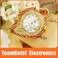 Fashion Beautiful Bracelet Style Lady's Crystal Wrist Watch, Jewelry Watch Diamond ladies Band Quartz Wrist Watch &Free Shipping