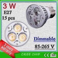 Free shipping 3 watt E27 dimmable led spotlights _ house haus sportlight