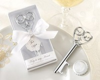 "Free shipping  30 PCS/LOT Wedding favor-""Simply Elegant"" Key To My Heart Bottle Opener to USA and European by Fedex"