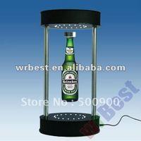 fashion design bottle display, W-7011 rotating AD display, magnetic levitating pop display