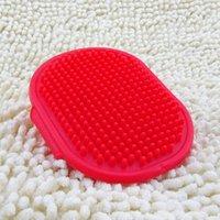 Wholesale - rubber bath massage brush dog bath round brush color random free shipping 20pcs/lot