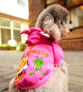 Yue yue ants cake guard coat pet clothes dog clothes qiu dong wei clothing two color lovers of lovely cartoon(China (Mainland))