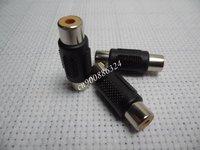 100pcs F-F 1 RCA AV Joiner Coupler Adapter Gold Plated