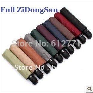free shipping, pure color all ZiDongSan, strong wind rain, folding QingYuSan
