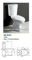 eruopean S-trap 2 piece toilet/ two piece ceramic WC