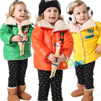 2012 winter new arrival children girl's candy color winter coat. fleece inside outerwear 1T-4T free shipping