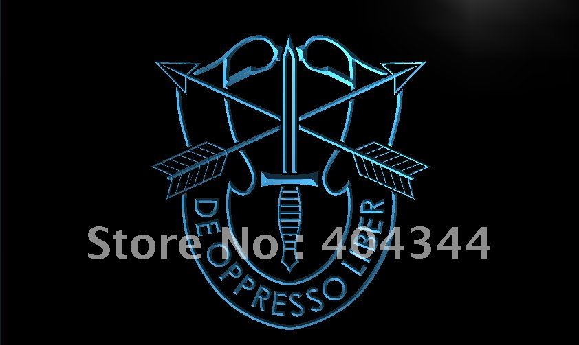 LI040-TM USASFC US Army Special Forces Neon Light Sign. Advertising. led panel, Free Shipping, Wholesale(China (Mainland))