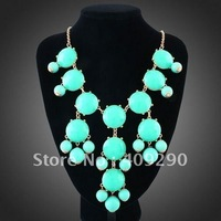 Factory Direct Bubble Necklace 13 Colors Bib Statement Necklace Good Quality  Free Shipping