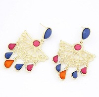 High quality! 12B36 Bohemian style water drop earring Jewelry! cRYSTAL sHOP