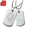 Ti tags necklace male titanium steel necklace female dog tag personalized lettering diy identity card