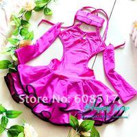Children's Latin Salsa Ballroom Dance Dress Girls Dancewear Stylish Children's Stage Dance Wear free shipping