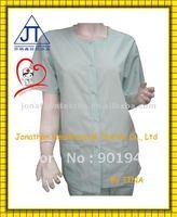 Solid dye poly cotton snaps nurse uniform scrubs top