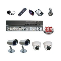 H.264 CCTV 4ch Standalone DVR System Outdoors and Indoors with 500GB HDD, Bracket and Mouse Free