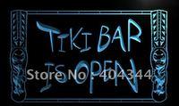 LM110- Tiki Bar Open Mask  NEW Neon Light Sign   hang sign home decor shop crafts led sign