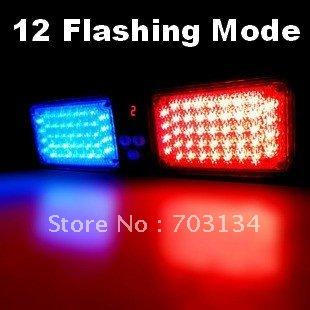 86 LED Super power Car Visor Led light 12 Red blue Strobe flashing mode Automotive Emergency Warning safety lights Night driving(China (Mainland))