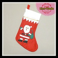 Free shipping New 4PCS/Lot 38cm Christmas socks Christmas tree decorations toys Santa Claus gift