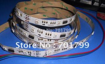 5m 30leds/m TM1809 led dream color strip,DC12V input,10pcs IC each meter,non-waterproof