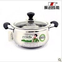 ZHENNENG straight bottom-clad stainless steel pot milk pot / stew / soup pot / kitchen supplies 22cm