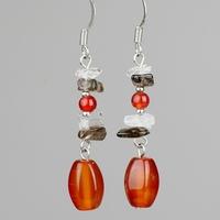 Earrings natural red agate tassel drop earrings bohemian diy jewelry women drop earrings