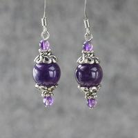 Amethyst delicate earrings ol fashion women drop earrings