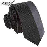 Free shipping 5.5cm width 100% silk grey vertical stripe necktie