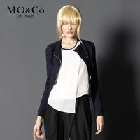 Free shipping Mo & co . mormons women's m113cot43 fashion zipper denim top short jacket moco