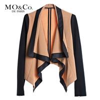 Free shipping Mo & co . mormons m114cot30 fashion turn-down collar long-sleeve outerwear moco