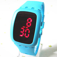 Sports led watch fashion jelly table capitales mirror electronic watch lovers watch