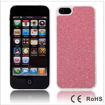 50pcs/lot wholesale Glitter shining hard back cover case dress skin for iPhone 5 iPhone 5G With pp bag DHL free shipping