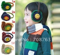 3PCS Christmas Gifts New colorful Earmuffs Earwarmers Ear Muffs Earlap Warm Headband Winter Smile Face For Baby Girls & Boys