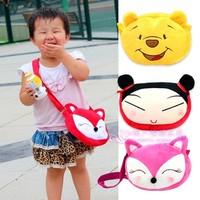 Child small backpack cartoon messenger bag WINNIE snack bag plush toy