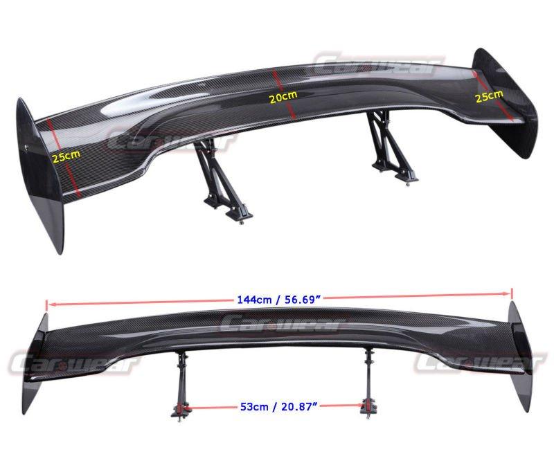"57"" 3D 3DI GT JDM UNIVERSAL WING CARBON FIBER REAR SPOILER for PORSCHE(China (Mainland))"