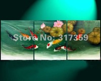 Free shipping wholesale canvas SeaGreen art abstract oil paintings No framed  acrylic paintings art  4pc/set