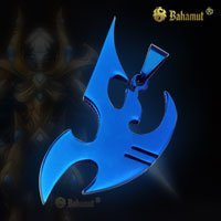 Starcraft 2 II Protoss Blue Necklace Pendant  Free With Chain  - Titanium Steel