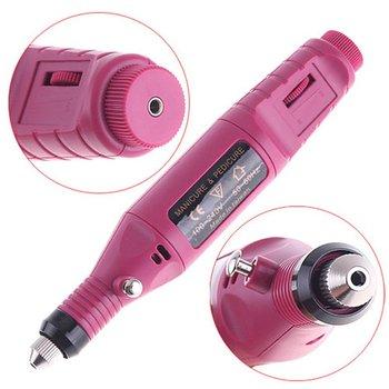 Free Shipping+6 Bits Pen Shape Electric Salon Manicure File Polish Tool For Nail Art AC 100-240V (EU plug) 50/60HZ