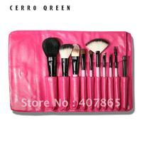 Makeup brush natural animal wool 10 cosmetic brush set ,women's brush