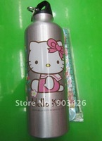 Free Shipping!Christmas Gift! Hello Kitty Cartoon Water Bottle Kids Drinking Bottle G1800 Wholesale & Drop Shipping