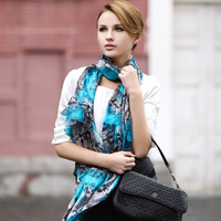Fashion long silk scarf  for Lady with 9 Designs