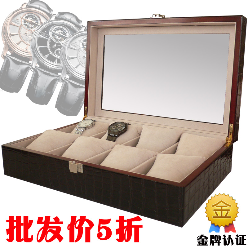 In Stock Christmas day Leather watch box jewelry box leather wood watch storage box fashion quality hot selling(China (Mainland))