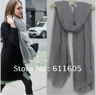 Women fashion winter warm  linen fibre scarf,5 colors,free shipping, BSC002