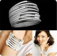 Free shipping New arrival !!fashion Strap 13 layer filaments PU leather bracelets. 60Pcs/Lot