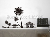 Free shipping removable wall stickers Palm trees giant wall decals DIY home decoration JM7154