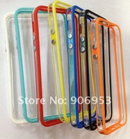 New arrival Soft TPU Bumper case cover with metal button for iphone 5 5s 5G 5th