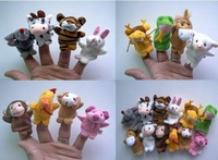 Wholesale 5set/Lot 60pcs/Lot Plush Zodiac Finger Puppets Kids/Baby Plush Toys Talking Props For Christmas Gifts