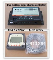 10A EPIP20-DB Dual Battery Solar Charge Controller With MT-1 Meter