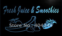 LK690-TM Fresh Juice Smoothies Drink Cafe Neon Light Sign. Advertising. led panel, Free Shipping, Wholesale(China (Mainland))