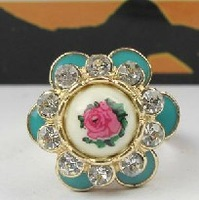 R116T  Cheap Jewelry Fashion  Aquarius  beautiful flower rings for women wholesale charms TK-3.79