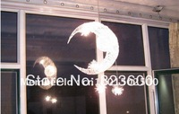 Moon And Star Bedroom Pendant Lamp Chandelier Light Ceiling EMS Fast Shipping
